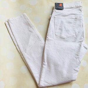 Gap skinny white jeans